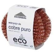 ESTROPAJO ECO FRIENDLY COBRE PURO 2 UDS