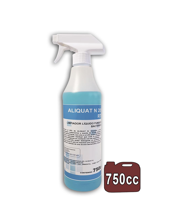DESINFECTANTE ALIQUAT 750ML De uso directo.*Virucida Bactericida 6UDS